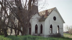 A small, old abandoned church Stock Footage