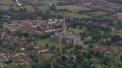 AERIAL United Kingdom-Salisbury Cathedral - stock footage