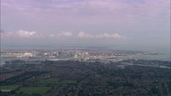 AERIAL United Kingdom-Portsmouth Stock Footage