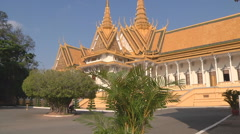 Throne Hall at the Royal Palace in Phnom Penh, Cambodia Stock Footage
