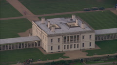 AERIAL United Kingdom-Queen's House, Greenwich Stock Footage
