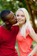 Young couple in love summertime fun happiness romance Kuvituskuvat