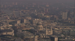 AERIAL United Kingdom-St Paul's Cathedral Stock Footage