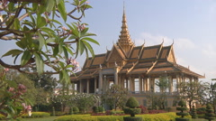 Moonlight Pavilion at the Royal Palace in Phnom Penh, Cambodia Stock Footage