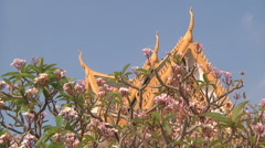 Roof at the Royal Palace complex in Phnom Penh, Cambodia Stock Footage