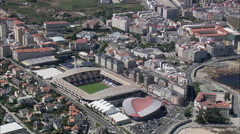 AERIAL Spain-Coruna Stock Footage