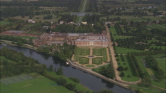 AERIAL United Kingdom-Hampton Court Stock Footage