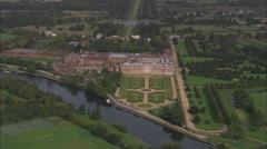 AERIAL United Kingdom-Hampton Court - stock footage