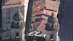 AERIAL Spain-Santiago De Compostela Stock Footage