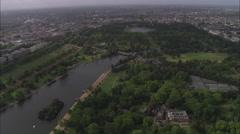 AERIAL United Kingdom-Hyde Park Stock Footage
