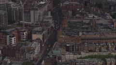 AERIAL United Kingdom-Harrods Stock Footage