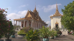 Silver Pagoda at the Royal Palace in Phnom Penh, Cambodia Stock Footage