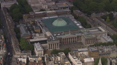 AERIAL United Kingdom-British Museum Stock Footage