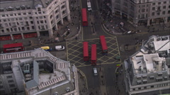 AERIAL United Kingdom-Oxford Street Stock Footage