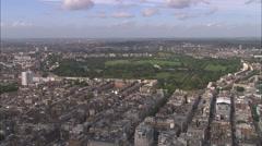 AERIAL United Kingdom-Regent's Park Stock Footage