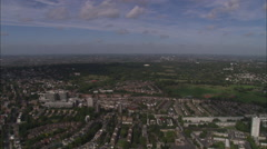 AERIAL United Kingdom-Kenwood House On Hampstead Heath Stock Footage