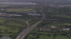 AERIAL United Kingdom-M4/M25 Junction Stock Footage