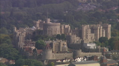 AERIAL United Kingdom-Windsor Castle Stock Footage