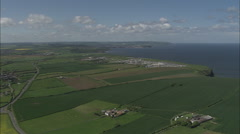 AERIAL United Kingdom-Coast From Long Nab To Robin Hood's Bay Stock Footage