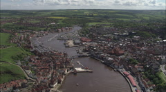 AERIAL United Kingdom-Whitby Stock Footage