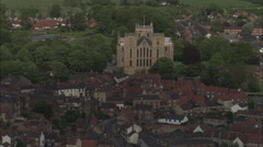 AERIAL United Kingdom-Ripon Cathedral Stock Footage