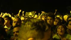 Concert Crowd, Argentina Stock Footage