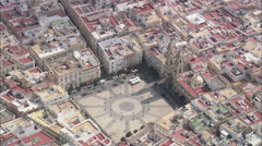 AERIAL Spain-Looking Down On Cadiz - stock footage