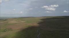 AERIAL United Kingdom-Ilkley Moor - stock footage