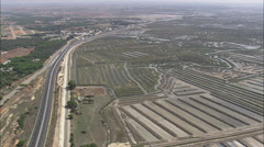 AERIAL Spain-Fish Farming Landscape Stock Footage