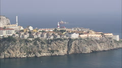 AERIAL Gibraltar-Rock Of Gibralter - stock footage