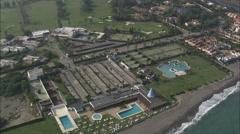 AERIAL Spain-Real Club De Golf Sotogrande Stock Footage