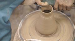Japanese style ceramic bottle molding Stock Footage