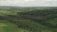AERIAL United Kingdom-Harrogate Stock Footage