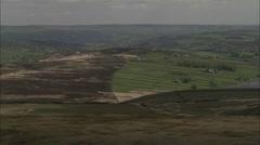 AERIAL United Kingdom-Wadsworth Moor - stock footage