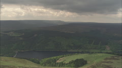AERIAL United Kingdom-Derwent Moors And Wheel Stones Stock Footage