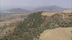 AERIAL Spain-Landscape Near El Chorro Stock Footage