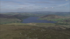 AERIAL United Kingdom-Cambrian Mountains And Hills - stock footage