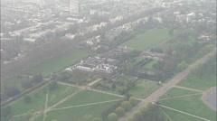 AERIAL United Kingdom-Kensington Palace Stock Footage