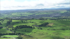 AERIAL United Kingdom-Kendal Stock Footage