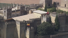 AERIAL Spain-Castillo De Almodovar - stock footage