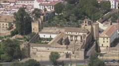 AERIAL Spain-Alcazar De Los Royes Christianos Stock Footage