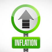 Stock Photo of inflation road sign concept illustration