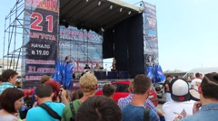 Car Festival Main Stage During The Day Stock Footage