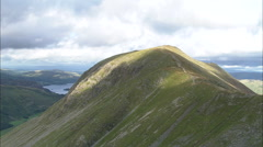 AERIAL United Kingdom-Grisedale Tarn To St Sunday Crag - stock footage