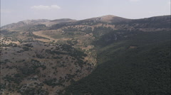 AERIAL Spain-Passing Zuheros In Parque Natural Sierras Subbeticas - stock footage