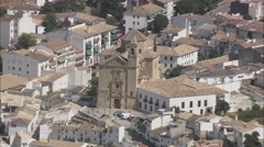 AERIAL Spain-Churches Of Montefrio Stock Footage