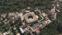 AERIAL Spain-Charles V Palace Stock Footage
