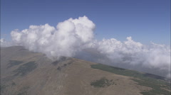 AERIAL Spain-Sierra Nevada And Clouds Stock Footage