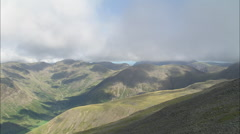 AERIAL United Kingdom-Kirk Fell, Great Gable And On To Hay Stacks Stock Footage