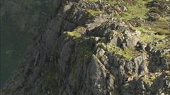 AERIAL United Kingdom-Hay Stacks Stock Footage